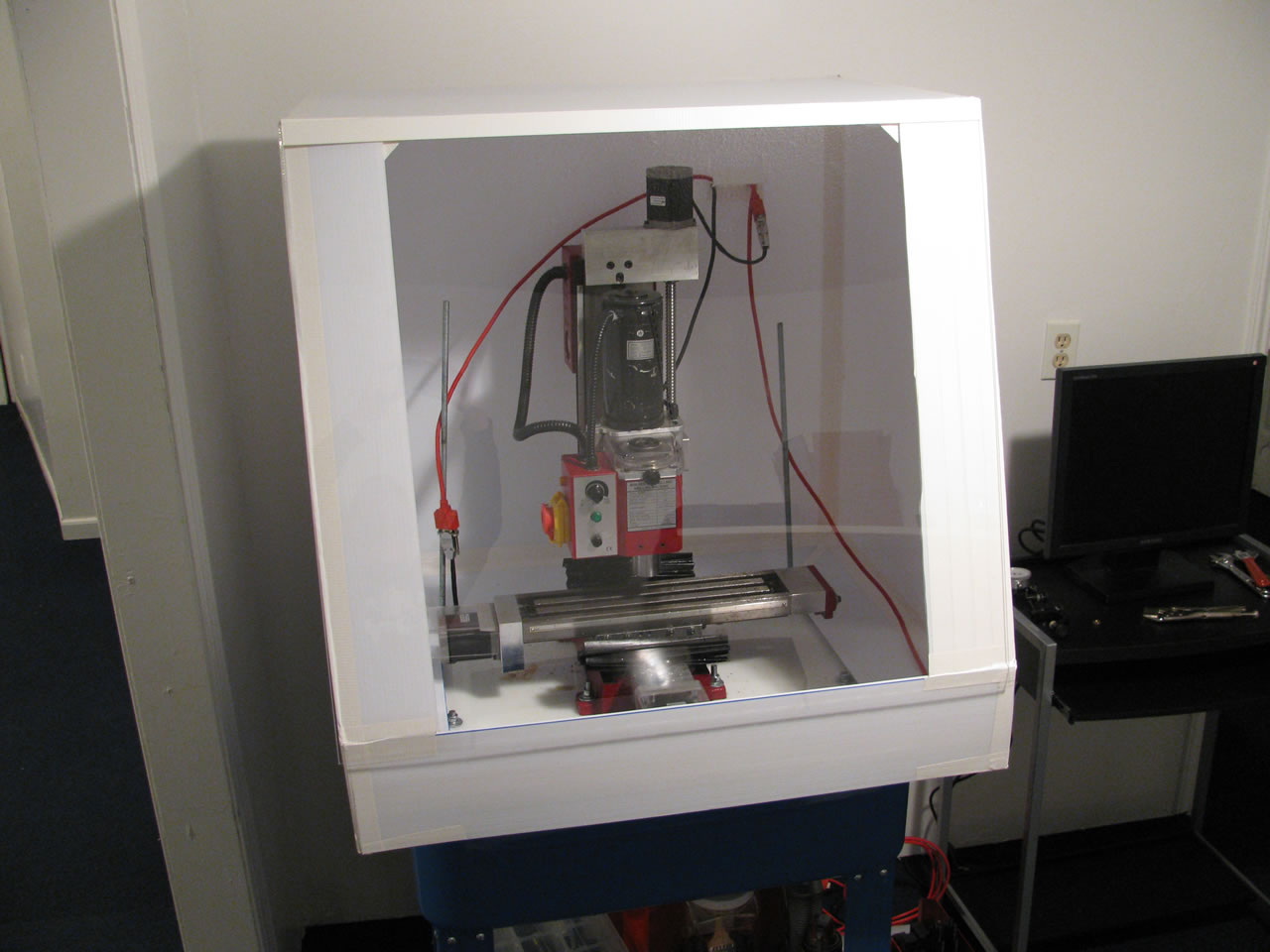 Building a CNC Mill Stand and Enclosure