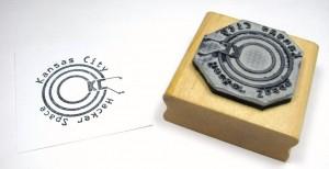 Mounted stamp
