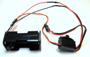 Completed battery wiring harness