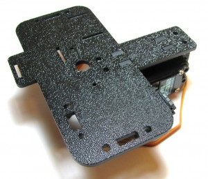 Main body on top of drive servo bracket