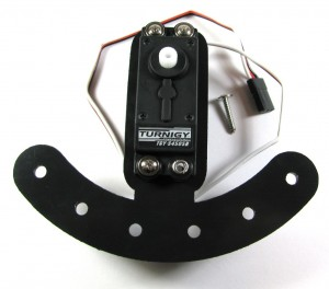 Steering Servo Attached to Steering Bracket
