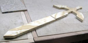 CNC milled sword blank