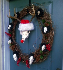 skull christmas wreath