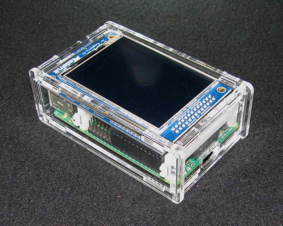 Raspberry pi model a b adafruit 2 8 pitft case built for 2 case kit di storia