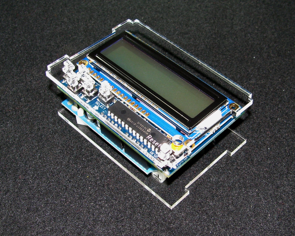 Arduino adafruit lcd case built to spec