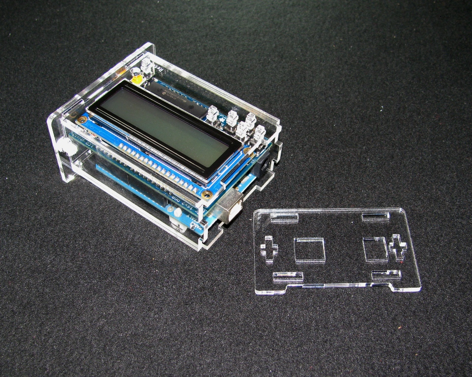 Arduino adafruit lcd case built to spec